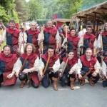 Gruppo Arcieri medievali maestà della battaglia